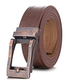 Men's Rugged Leather Linxx Designer Ratchet Belt