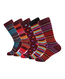 Men's Groovy Designer Dress Socks Pack of 5