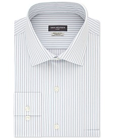 Men's Classic/Regular-Fit Non-Iron Performance Stretch Stripe Flex Collar Dress Shirt