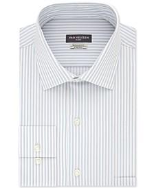 Men's Classic/Regular-Fit Non-Iron Performance Stretch Stripe Flex Collar Dress Shirt