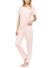 Lace-Trim Pajama Set