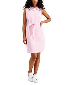 Striped Sleeveless Button-Down Dress