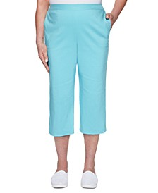 Sea You There Embellished Pull-On Capri Pants