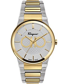Men's Swiss Sapphire Two-Tone Stainless Steel Bracelet Watch 41mm