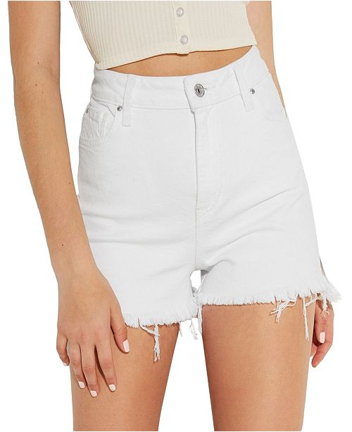 GUESS Claudia High-Rise Slit Shorts