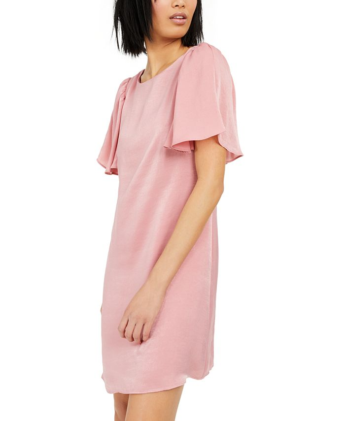 INC International Concepts - Hammered-Satin Shift Dress