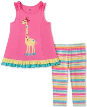 Kids Headquarters Baby Girls Giraffe Tunic Stripe Legging Set