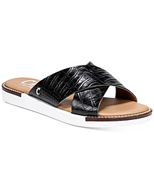Women's Lux Cross-Band Flat Sandals