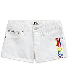 폴로 랄프로렌 여아용 반바지 Polo Ralph Lauren Little Girls Polo Cotton Denim Shorts,Myra Wash