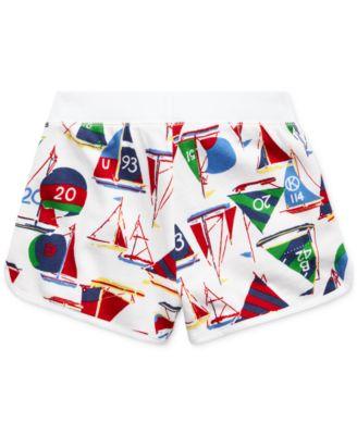 Ralph Lauren Girls Sailboat Cotton Short