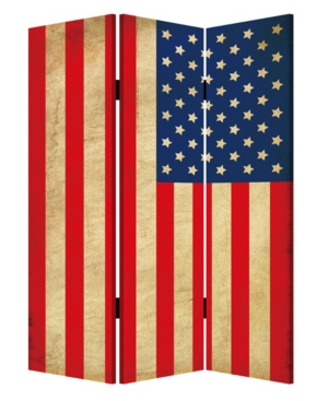 Screen Gems Double sided with different Design 3 Panel 6' American Flag Screen