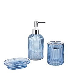 Blue 3-Pc. Bath Accessory Set