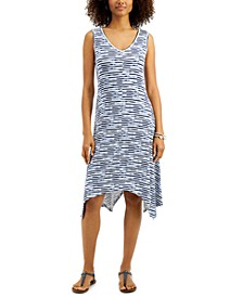 Plus Size Striped Handkerchief Dress, Created for Macy's