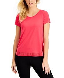 Mesh-Hem T-Shirt, Created for Macy's