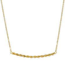 "Rope Chain Station Necklace in 14k Gold, 16"" + 2"" extender"