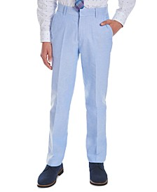 Big Boys Blue Oxford Suit Pants