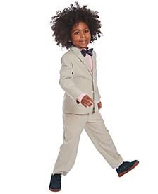 Toddler Boys 4-Pc. Heather Suit Set