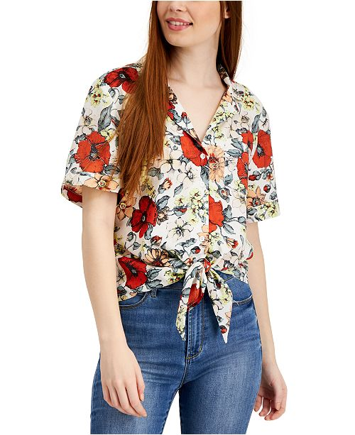 French Connection Valetudo Print Blouse