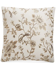 "Embroidered Chinoserie 20"" x 20"" Decorative Pillow, Created for Macy's"