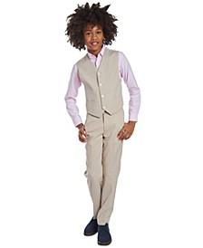 Big Boys Stretch Subtle Pinstripe Heather Suit Vest