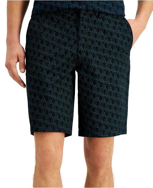 A|X Armani Exchange Men's Diagonal Logo Shorts, Created for Macy's
