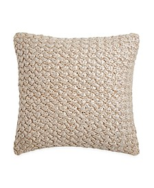 Metallic Knit Decorative Pillow