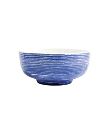 Santorini Stripe Medium Footed Serving Bowl