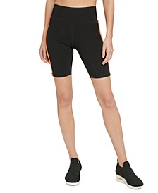 Sport Gradient-Stripe High-Waist Bike Shorts