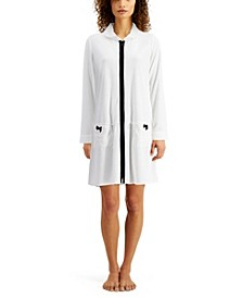 Short Terry Zipper Robe