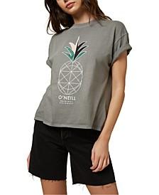 Juniors' Peace Cotton Graphic T-Shirt