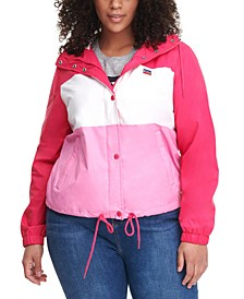Trendy Plus Size Active Rain Slicker Jacket