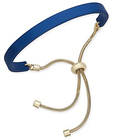 Gold-Tone & Colored Curved Bar Slider Bracelet, Created for Macy's