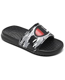 Little Boys' Camo Super Slide Sandals from Finish Line
