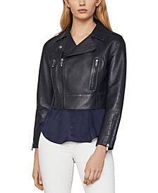 BCBGMAXAZRIA Autumn Leather Moto Jacket