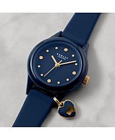 Women's Navy Blue Silicone Strap Watch 27 mm