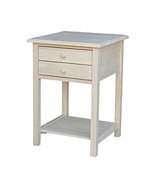 Lamp Table with 2 Drawers