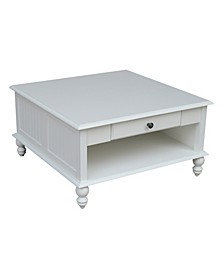 Cottage Collection Square Coffee Table with Drawer