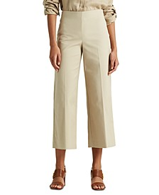 Petite Cotton Wide-Leg Pants