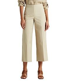 Lauren Ralph Lauren Petite Cotton Wide-Leg Pants