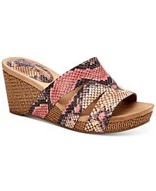 Women's Juliaa Slip-On Platform Wedge Sandals, Created for Macy's