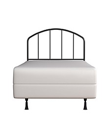 Tolland Arched Spindle Metal Headboard with Bed Frame, Twin