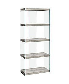 """Bookcase - 60"""" H Reclaimed Glass Panels"""