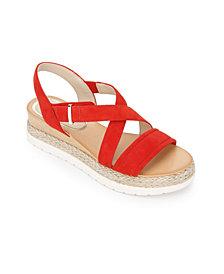 Kenneth Cole New York Jules Platform X Band Sandals