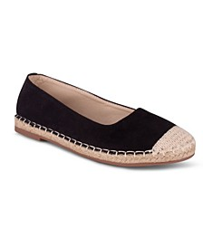 Buckingham Women's Espadrille Flat with Rope Trim