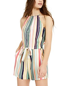 Juniors' Striped Romper