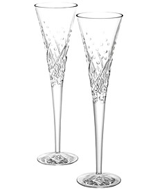 Happy Celebrations Toasting Flutes, Set of 2