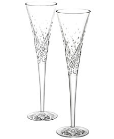 Waterford Happy Celebrations Toasting Flutes, Set of 2