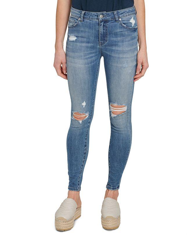 DKNY Jeans Everyday Destruction Skinny Ankle Jeans