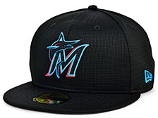 Kids  Miami Marlins 2020 Clubhouse 59FIFTY-FITTED Cap
