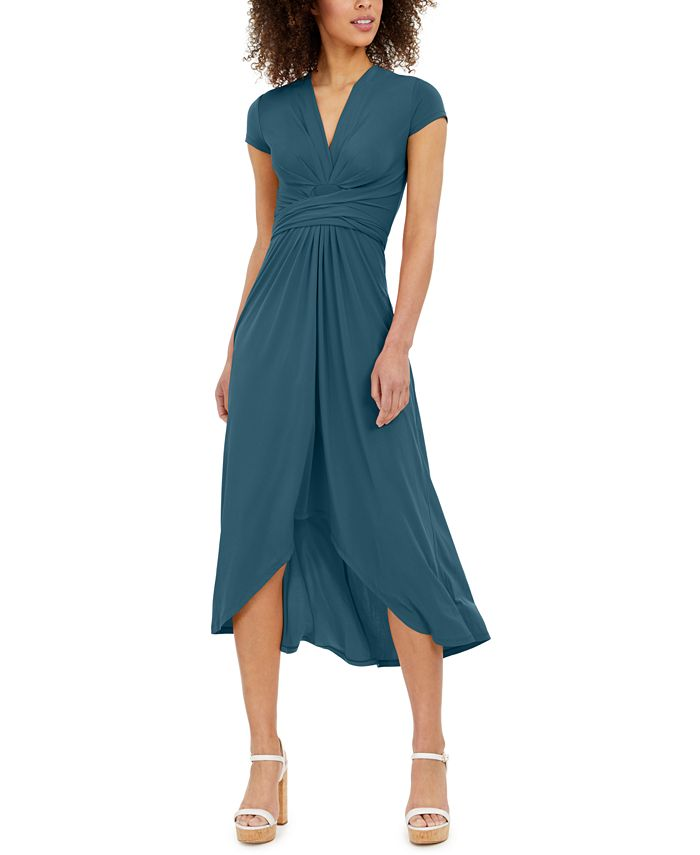 Michael Kors - Plus Size High-Low Wrap Dress